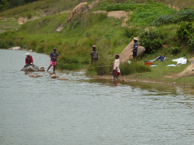 lac au pied du village de Mananjara qui pourrait être aménagé en site touristique
