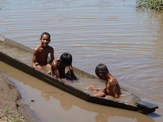 heure du bain dans le lakana