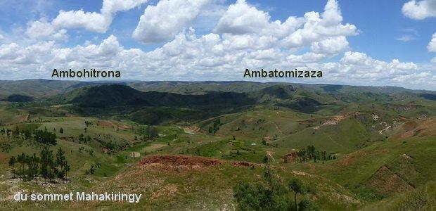 du sommet du Mahakiringy Ambohitrona Ambatomizaza