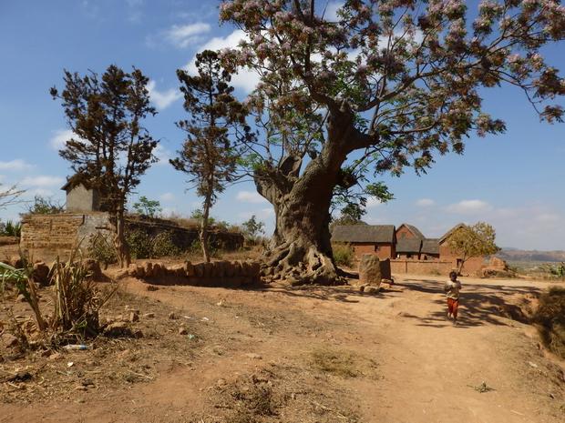 village Antanjondroa tombeaux Andrianarakotobe