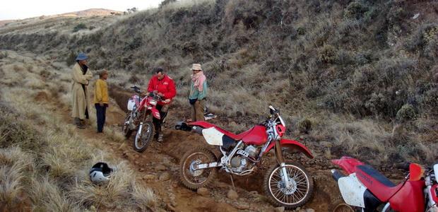 départ moto 400 xr