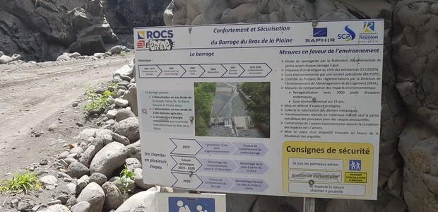 travaux barrage Bras de la Plaine2